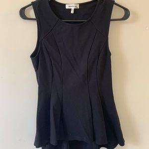 Peplum spandex-like blouse.